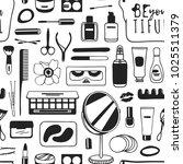 hand drawn seamless pattern... | Shutterstock .eps vector #1025511379