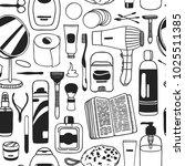 hand drawn seamless pattern...   Shutterstock .eps vector #1025511385