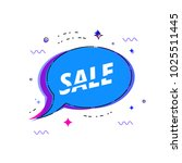 sale banner. sale text on... | Shutterstock .eps vector #1025511445