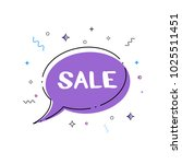 sale banner. sale text on... | Shutterstock .eps vector #1025511451