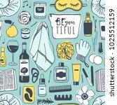 hand drawn relax seamless... | Shutterstock .eps vector #1025512159