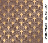 art deco pattern. seamless... | Shutterstock .eps vector #1025513854