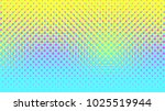 Stock vector halftone gradient pattern vertical vector illustration blue yellow pink dotted halftone texture 1025519944