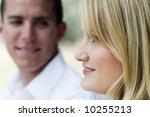 attractive man looking at his... | Shutterstock . vector #10255213