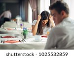 furious woman having emotional... | Shutterstock . vector #1025532859
