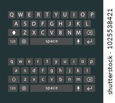 vector modern keyboard of...