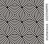 vector seamless rounded lines... | Shutterstock .eps vector #1025540995