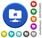 ftp home directory round color... | Shutterstock .eps vector #1025541835
