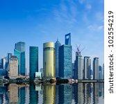 modern city shanghai skyline in ... | Shutterstock . vector #102554219