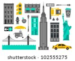 Vector Set Of New York City...