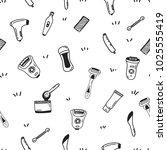 hair removal seamless pattern...   Shutterstock .eps vector #1025555419