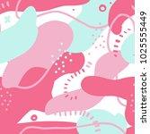 fluid bold shapes seamless... | Shutterstock .eps vector #1025555449