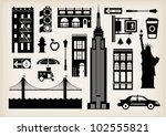 vector set of new york city... | Shutterstock .eps vector #102555821