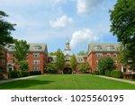 wayland hall in brown... | Shutterstock . vector #1025560195