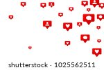 notifications with likes ... | Shutterstock .eps vector #1025562511