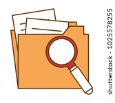 folder document with magnifying ... | Shutterstock .eps vector #1025578255
