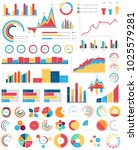 set for infographics various... | Shutterstock .eps vector #1025579281