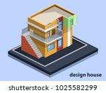 isometric 3d flat illustration...   Shutterstock .eps vector #1025582299