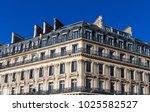 the typical facade of parisian...   Shutterstock . vector #1025582527