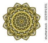 vector hand drawn flower symbol ... | Shutterstock .eps vector #1025591551