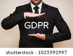 general data protection... | Shutterstock . vector #1025592997