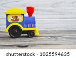 baby toy steam locomotive  old... | Shutterstock . vector #1025594635