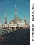 mosque  blue sky  muslim ... | Shutterstock . vector #1025607889