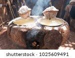 rock salt from boiled saltwater.... | Shutterstock . vector #1025609491