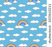 children's seamless pattern... | Shutterstock .eps vector #1025610211