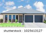 typical  facade of a modern... | Shutterstock . vector #1025613127