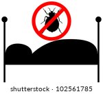 prohibition sign for bedbugs in ... | Shutterstock . vector #102561785