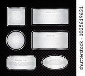 silver vector label frame eps 10   Shutterstock .eps vector #1025619631