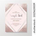 rose gold glitter background... | Shutterstock .eps vector #1025620039