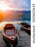traditional wooden boats pletna ...   Shutterstock . vector #1025622619