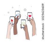 social network   friends... | Shutterstock .eps vector #1025623609