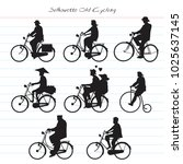 silhouette old cycling | Shutterstock .eps vector #1025637145