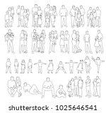 sketch people  set | Shutterstock . vector #1025646541