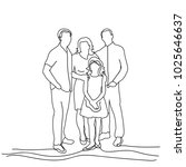 sketch family on white... | Shutterstock . vector #1025646637