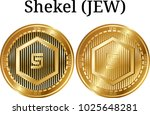 set of physical golden coin... | Shutterstock .eps vector #1025648281