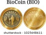 set of physical golden coin... | Shutterstock .eps vector #1025648611