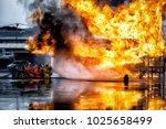 firefighter training.  fireman... | Shutterstock . vector #1025658499