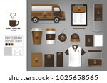 corporate identity template set ... | Shutterstock .eps vector #1025658565