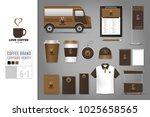 corporate identity template set ... | Shutterstock .eps vector #1025658565