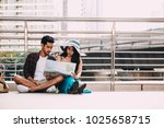couple asian travelers are...   Shutterstock . vector #1025658715