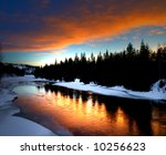 Winter River Scenery From...