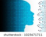 artificial intelligence. a.i.... | Shutterstock .eps vector #1025671711