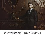 imposing well dressed man in a... | Shutterstock . vector #1025683921