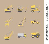 icons construction machinery... | Shutterstock .eps vector #1025685874
