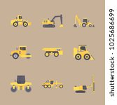 icons construction machinery... | Shutterstock .eps vector #1025686699