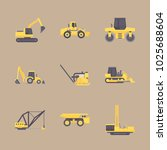 icons construction machinery... | Shutterstock .eps vector #1025688604